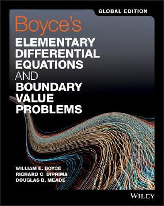 elementary differential equations and boundary value problems 9th edition solutions