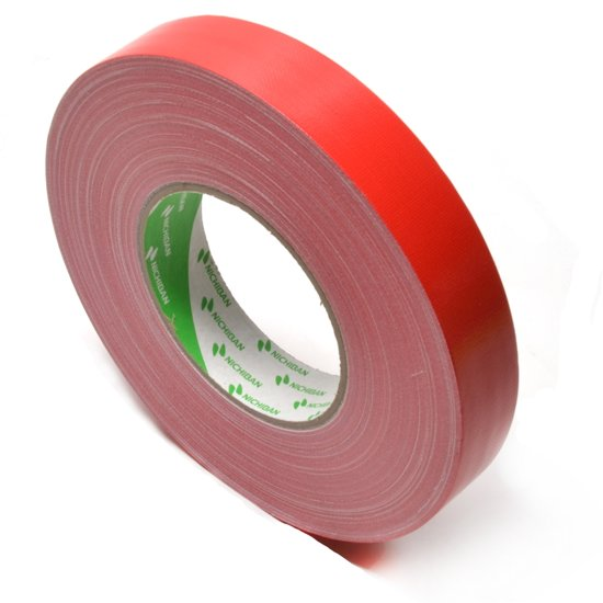 Nichiban   -  duct tape    -  25 mm x 50 m   -  Rood