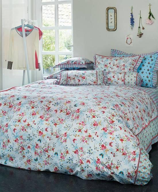 pip studio dekbedovertrek chinese blossom cobalt 140x220. Black Bedroom Furniture Sets. Home Design Ideas