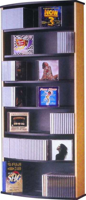 Populair bol.com | CD DVD rek opbergkast Giant beuken #EJ23