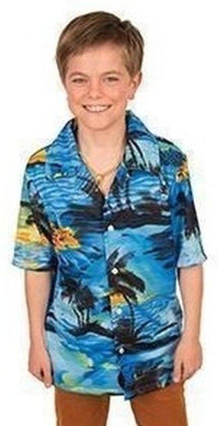 Blouse Overhemd.Bol Com Hawaii Blouse Overhemd Blauw Voor Jongens 140 10 Jaar