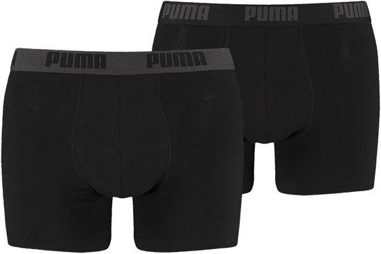 PUMA Boxershort Heren PUMA BASIC BOXER 2P - Black / Black