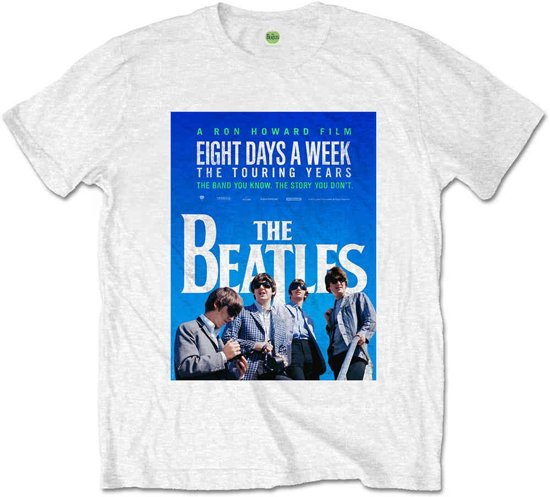 The Beatles - 8 Days A Week Movie Poster heren unisex T-shirt wit - XXL