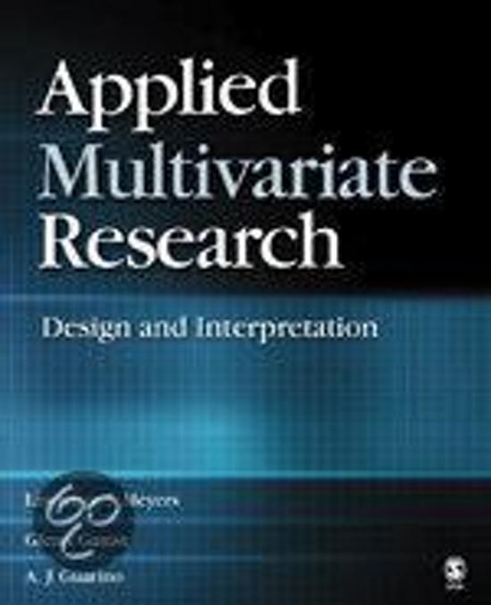 Applied Multivariate Research