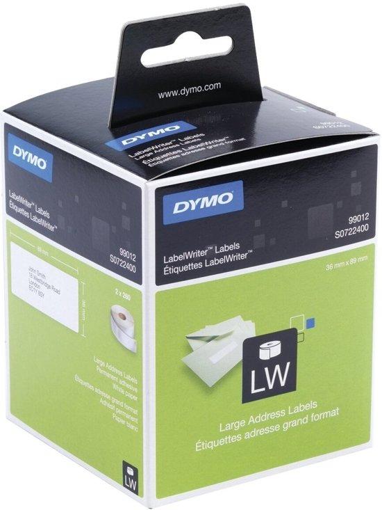 Dymo Etiket 99012 - labelwriter - 36x89mm - 520stuks