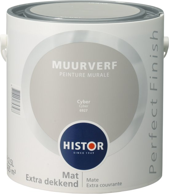 Bekend bol.com | Histor Perfect Finish Muurverf Mat - 2,5 Liter - Cyber EG96
