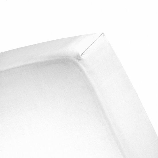 Cinderella - Hoeslaken (tot 25 cm) - Jersey - 120 x 200 cm - White