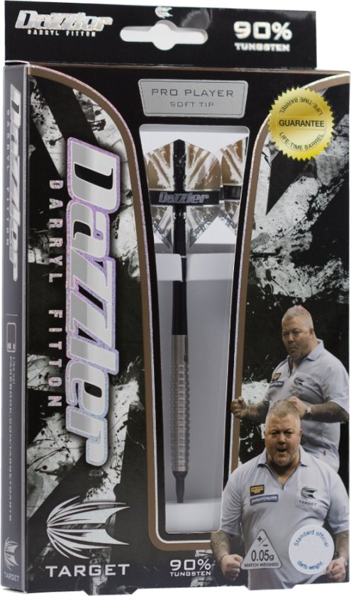 Target Darryl Fitton 90% 18 gram Softtip Dartpijlen