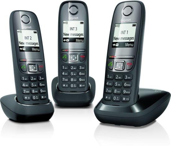 Gigaset A475 - Trio DECT telefoon - Zwart