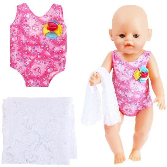 a4f4e23deca21a bol.com | Little New Finds| Baby Born en Poppen | Roze badpak met ...