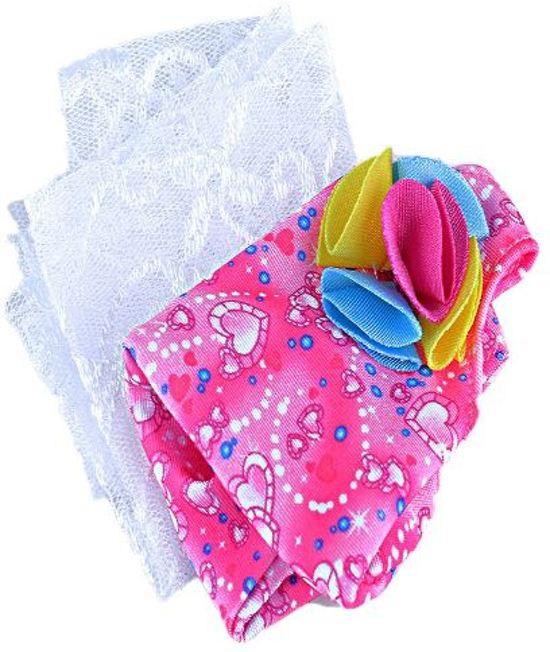 Voor de Pop | Roze badpak met doekje | Zwempak | Babyborn | Baby born | Babypop | Pop | Poppenkleertjes | Poppenkleren | Baby Born en Poppen