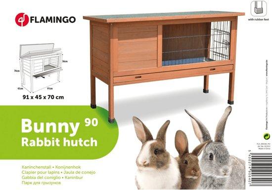 Flamingo konijnenhok Bugs 90 - 91,5 x 45 x 70 cm