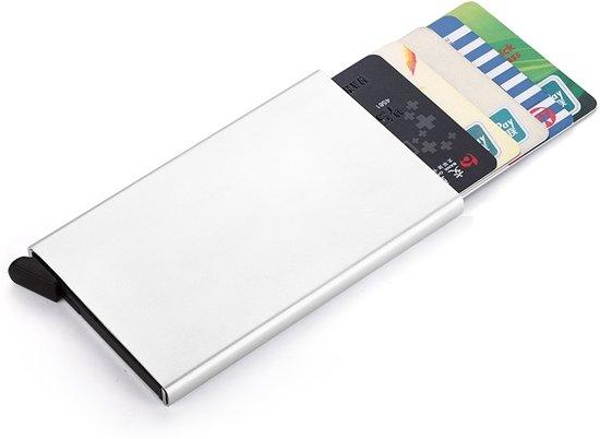 a05be0fd53c bol.com | Aluminium portemonnee creditcard pasjes houder - Zilver