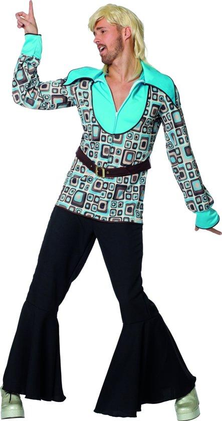Hippie Kostuum | Hippie Hemd Block The Sixties Man | Maat 48 | Carnaval kostuum | Verkleedkleding