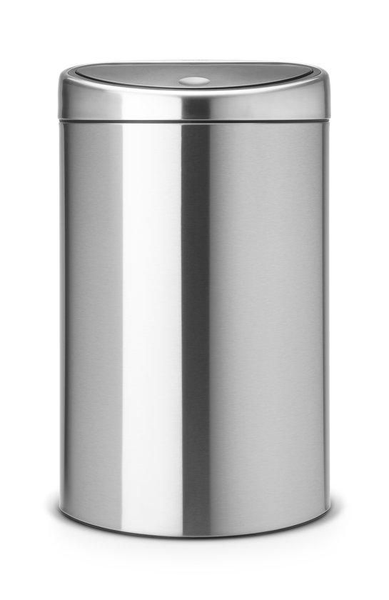 Brabantia Touch Bin Afvalemmer 30 L Mat Rvs.Brabantia Touch Bin Prullenbak 40 L Matt Steel