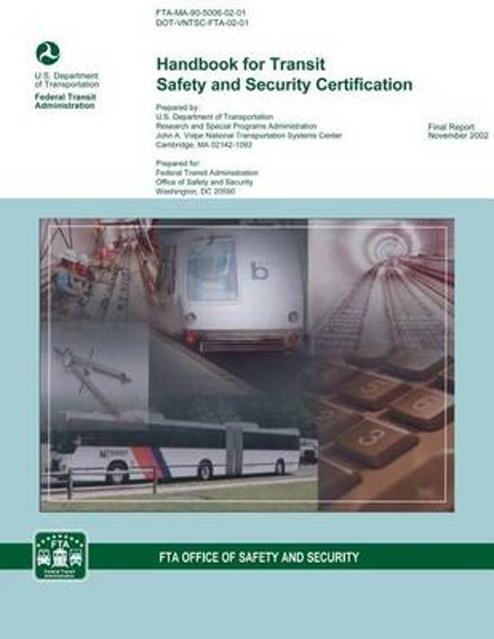 Handbook for Transit Safety and Security Certification