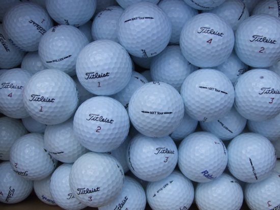 Golfballen gebruikt/lakeballs Titleist nxt tour AAAA Klasse 50 stuks.