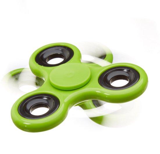 relaxdays - fidget spinner - tri-spinner 58g - hand spinner, anti-stress draaier groen