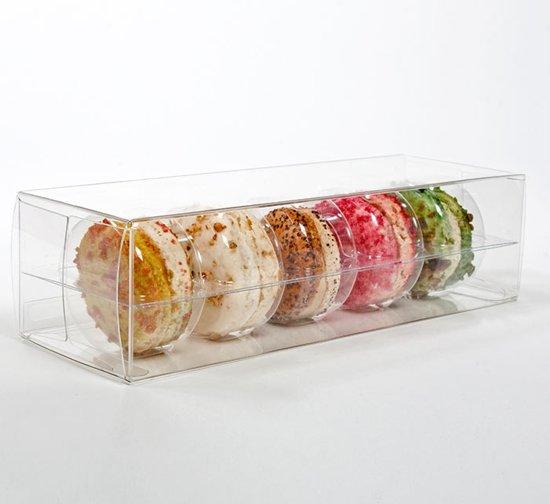 Macaron geschenkdoosjes set voor 5 6.5x5.1x19.1cm (25 stuks) (MBS1)