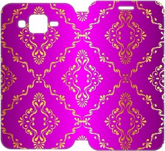 Samsung Galaxy J5 Uniek Design Hoesje Barok Roze in Ubbena
