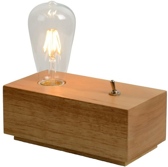 Lucide EDISON - Tafellamp - LED - 1x5W 2700K - Licht hout