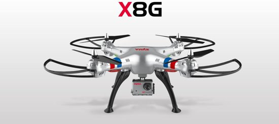 Syma X8G Headless met Camera - Drone - Zilver
