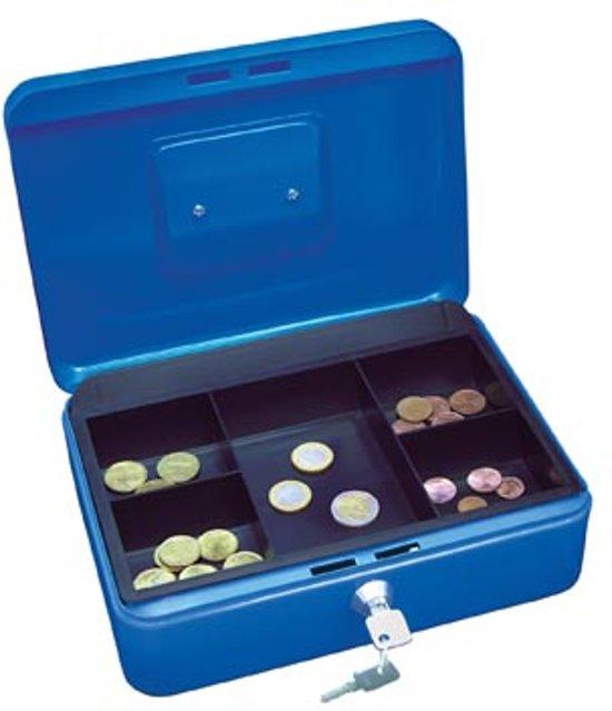 Wedo geldkoffer formaat 25 x 18 x 9 cm blauw