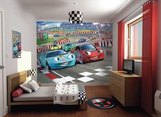 Kinderbehang Racewagens - Walltastic - 305 x 244 cm