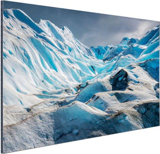 Gletsjer Perito Moreno Aluminium 120x80 cm - Foto print op Aluminium (metaal wanddecoratie)