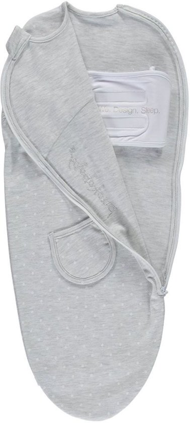 Puckababy Piep Inbakerslaapzak 0/3 m - Grey Dotty
