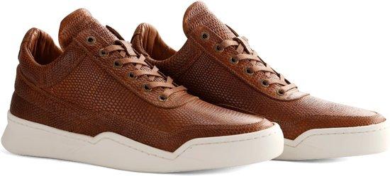 NoGRZ R.Steiner - Leren heren sneakers - Cognac - Maat 44