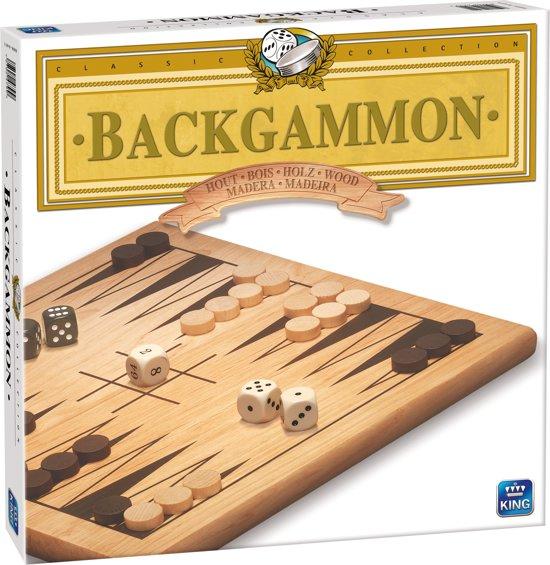 Backgammon Bordspel Hout - King - Met Houten Speelstukken