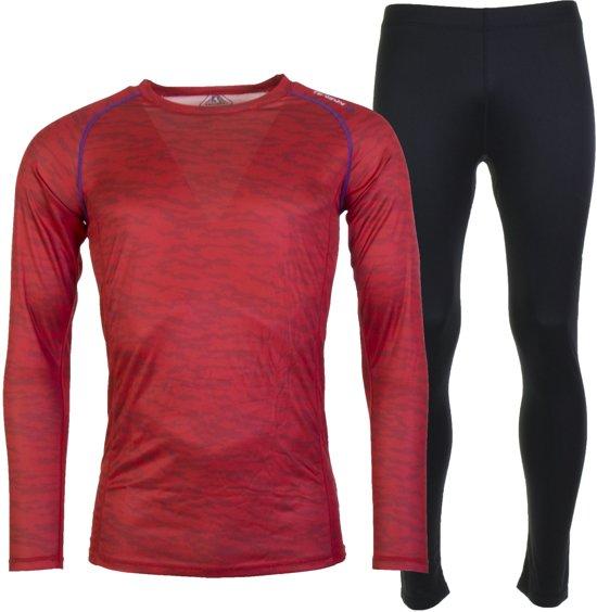 Tenson Caspian Thermoset  Sportshirt performance - Maat S  - Mannen - rood/zwart