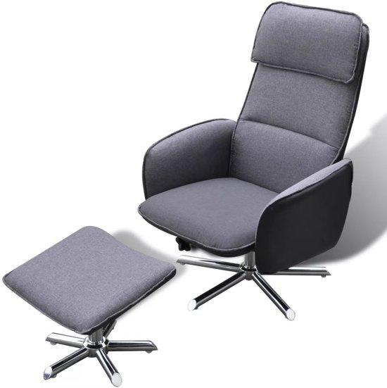 Comfortabele Luxe Fauteuil.Bol Com Vidaxl Comfortabele Fauteuil Voetenbankje Grijs