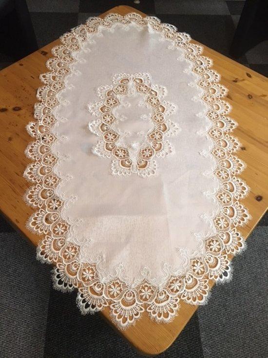 59d3909d68d61e Tafelkleed - Grofkant - Wit - Loper 70x130 cm - 8139