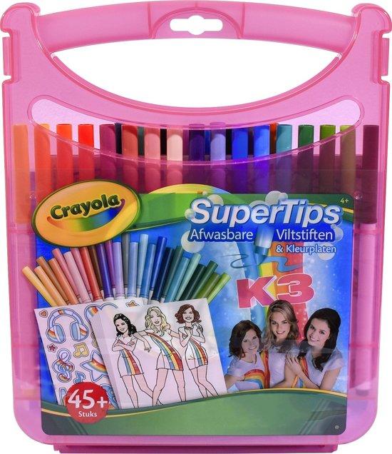 Kleurplaten K3 Kan Het.Viltstiften Kleurkoffer K3 Crayola