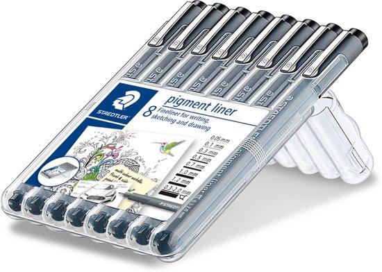 STAEDTLER pigment liner fineliner - box 8 st