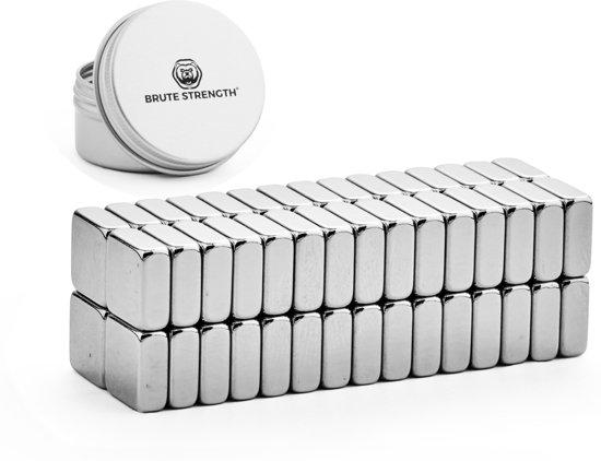 Super sterke magneten - Vierkant - 10 x 10 x 4 mm - 60 stuks