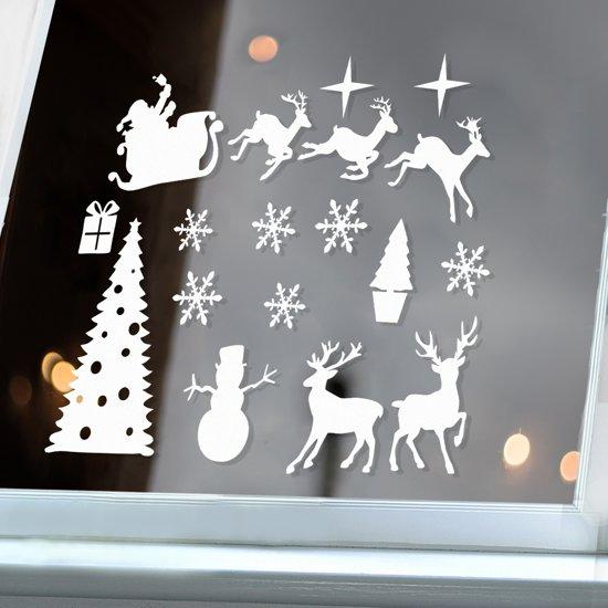 bol   raamsticker kerstmis - statisch hechtend - herbruikbaar