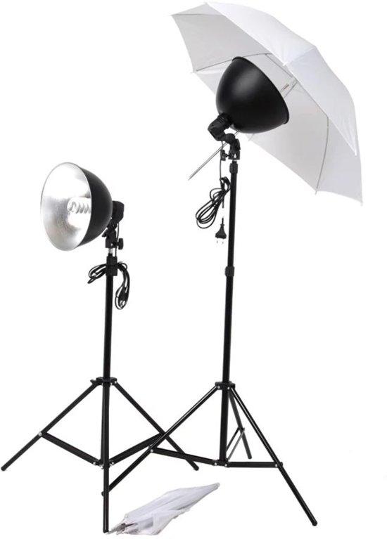 vidaXL - Studio lampenset incl. paraplu's en lampenkappen
