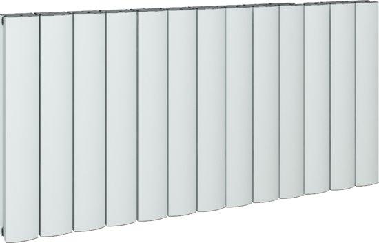 Wonderbaar bol.com   Design radiator horizontaal aluminium mat wit 60x123cm TV-83