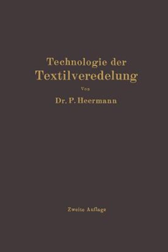 Technologie Der Textilveredelung