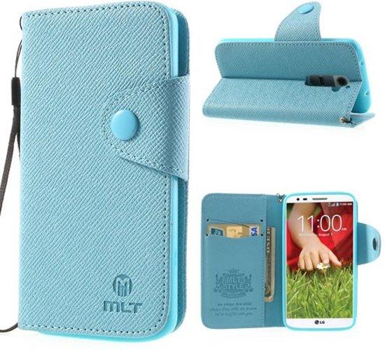 LG Optimus G2 MLT Wallet Stand Case Hoesje Blauw