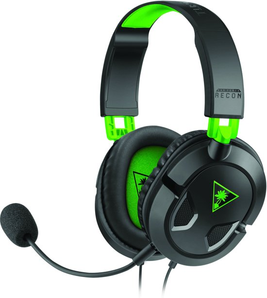 Turtle Beach Ear Force Recon 50X Wired Stereo Gaming Headset - Xbox One + PC + Mac + PS4 + Mobile - Zwart