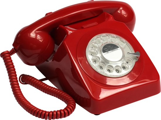GPO 746 ROTARY RED Telefoon met draaischijf klassiek jaren '70 ontwerp