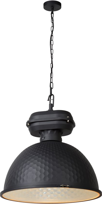 Lucide FARRINGDON - Hanglamp - Ø 52 cm - Antraciet