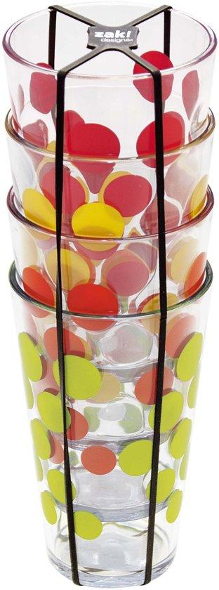 Zak!Designs Hot Summer Drinkbeker - 30 cl - 4 stuks