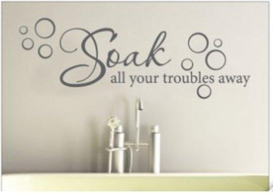 bol.com | muursticker wallstickershop.eu | decoratie badkamer | soak ...