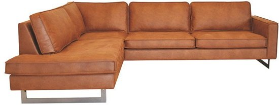 HomingXL - Hoekbank Riverdance chaise longue links | leer Colorado cognac 03 | 2,17 x 2,90 mtr breed