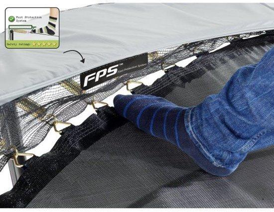 EXIT Elegant Premium trampoline ø253cm met veiligheidsnet Deluxe - grijs